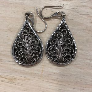 Lois Hill sterling silver drop earrings.